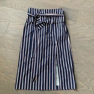 NWT J.O.A. Striped Pencil Skirt with Front Slit